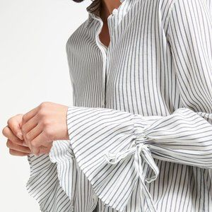 Levi's Elsie Tie Sleeve Stripe button up shirt